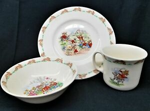 3 Pc Bowl/ Plate and Mug Royal Doulton Bunnykins Fine Bone China