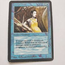 Vintage MTG Magic the Gathering Alpha Creature Bond Moderate Play