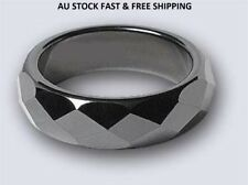 Non-Magnetic Hematite Faceted Finger Ring 20mm-21mm Arthritic Pain & BP(A026)