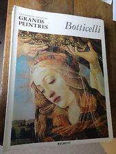 Botticelli art book grands peintres chef-d'oeuvre de l'art Botticelli 15 livres