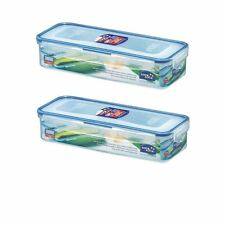 2 X LOCK & LOCK PLASTIC BACON BOX WITH FRESHNESS TRAY 1L HPL842