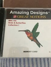 Amazing Designs Embroidery Card Bmc-104 Bird's& Butterflies Collection I
