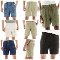 St. John's Bay Men's Shorts Hiking Size 34 36 38 40 42 Cargo Pockets Green Khaki