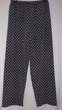 Size Small Black Blue Cream elastic drawstring waist unlined Dress Pants