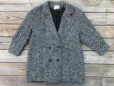 Vintage Studio C Women Jacket Coat Made in USA Wool Blend Size L Read Des