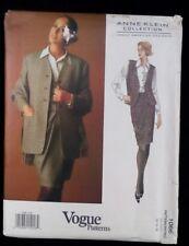VOGUE 1066 American Designer ANNE KLEIN Jacket Vest Skirt Scarf  12-14-16 UNCUT