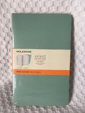 New Moleskine Volant Collection Ruled Journal Set of 2 Green 96 Lined 5 x 8.25