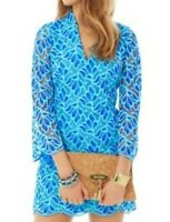Lilly Pulitzer Devina dress size 10 blue lace NEW