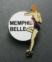 ARMY AIR FORCE NOSE ART PINUP MEMPHIS BELLE GIRL LAPEL HAT PIN BADGE 1 INCH