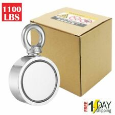 1100 Lbs Fishing Magnet Kit Super Strong Neodymium Pull Force for Treasure Hunt