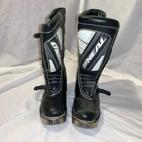 CHILDRENS  O'NEAL ELEMENT BLACK MOTOCROSS BOOTS METAL TIPPED TOE DEFECT PARTS 5