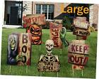 Yard Signs for Halloween Props Decorations Outdoor 6 Pack Track or Treat style 1