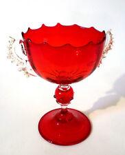 Fußschale COPPA SALVIATI & C. MURANO 18cm Glass footed Bowl Goblet Verre á pied