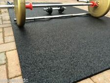 8ft x 4ft (10mm EXTRA THICK) RUBBER Gym Mat COMMERCIAL GRADE garage workshop