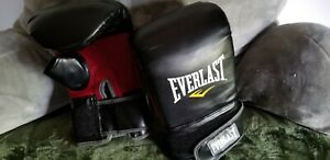 Everlast MMA Style Heavy Bag Gloves-Lg/Xl- Black & Red. Free Shipping & gift!!