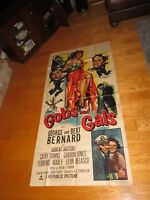 GOBS and GALS Movie Theatre 2 Sheet Poster U.S. Military Navy RARE Vintage (P182