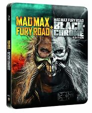 MAD MAX - Fury Road ( Black & Chrome ) Blu ray Steelbook - 2 Disc set ( NEW )