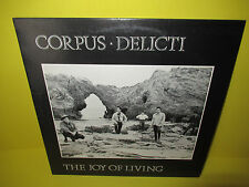 CORPUS DELICTI - THE JOY OF LIVING LP EX KBD POST PUNK GOTH JOY DIVISION