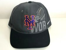 5f09f3c4e1a22 NY Mets Nike 2015 World Series Hat Cap Nice Graphics Gray and Black MLB  Baseball