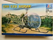 Italeri 1:72 Scale OH-12S Sioux Helicopter Vietnam War Model Kit - New - # 085