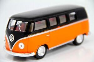 "New 5"" Kinsmart 1962 VW Volkswagen Classical Bus Diecast Model Toy 1:32- Orange"