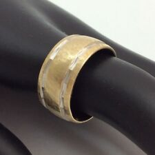 10 MM WIDE WEDDING BAND RING SIZE 9 14K YELLOW GOLD