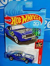 Hot Wheels 2018 Factory Set HW Flames #324 Custom '67 Pontiac Firebird Blue