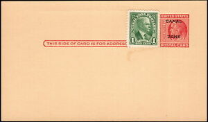 Canal Zone - 1952 - Uprated Postal Card # UX11 with Freemasonry Rehearsal Notice