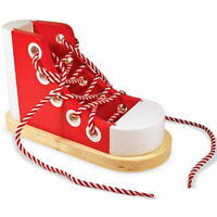 Melissa and Doug Wooden Lacing Shoe - Educational Toys For Kids