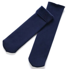 Blue Womens Winter Elastic Socks Solid Velvet Casual Snow Thermal Keeping Socks