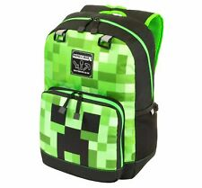"Minecraft 17"" Kids' Creeper Fade Tier 2 Backpack & Lunch Box with Laptop Sleeve"