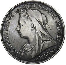 1897 LX CROWN - VICTORIA BRITISH SILVER COIN