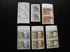 bélgica - sello yvert y tellier n° 2223 a 2228 x2 n (Z8) stamp Bélgica