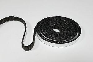 Dichtschnur Dichtband 13 x 2 mm selbsklebend Ofendichtung 0,25m schwarz 1a Qual.
