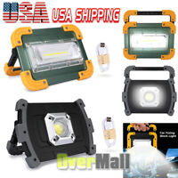 Ultra Bright 80000LM COB LED Work Light Rechargeable Emergency Flood Lamp Stand