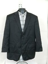 Jones New York Men's Striped Black Blazer Sport Coat Size 40S Two Button Wool