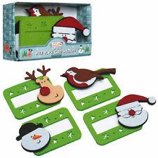 Kitchen Craft Christmas Xmas Party Felt Table Place Name Cards Tag Holder 4 Pack