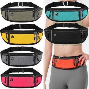UK Bum Bag Sports Waist Pouch Fanny Pack Travel Running Belt Festival Wallet
