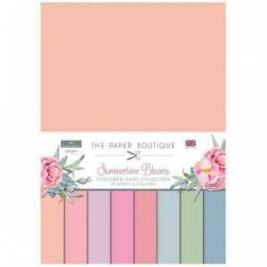 The paper Boutique Amazing summertime Blooms 24 A4 coloured pastel card,  new