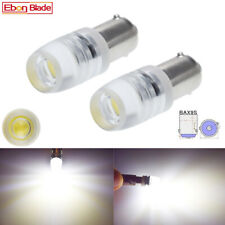 2Pcs 6V DC BAX9S H6W LED Car Light White COB 1W Auto Interior Dome Map Bulb Lamp