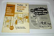 2 Sears 1962 & 1964 Simplified Electric Wiring Handbook Manual Installation Q87