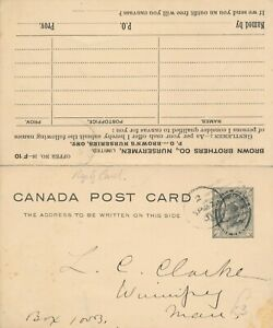 CANADA 1897-98 USED POSTAL STATIONERY POSTCARD WITH REPLY CARD #P20 !! D99