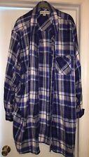 Ava & Viv 4X Blue Checkered Button Up Shirt Women's Plus Size Clothing