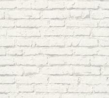A.S. Free Nature Vlies Tapete 34399 2 Stein Optik Struktur Grau Weiß
