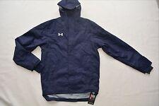 NWT Men's UNDER ARMOUR Waterproof Storm Jacket Rain Coat Coldgear Blue XS