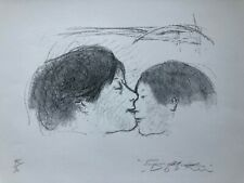 Alexander Dobkin / Original Lithograph Depicts A Mother And Child 45/70 - Signed
