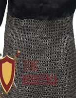 Details about  /Medieval Knight Chain mail Skirt 6 mm Round Riveted With Warser