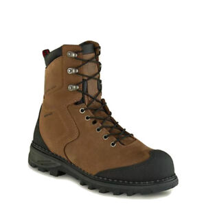 Men Red Wing Burnside Safety Toe Waterproof Leather Boots Size 9 Brown 4443