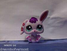 Littlest Pet Shop Lilac Sparkle Bunny with Blue Eyes #2354