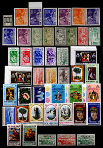 NEW HEBRIDES, BRITISH, FRANCE: CLASSIC - 1970'S STAMP COLLECTION MOSTLY UNUSED